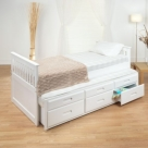 White Wooden Cabin Bed